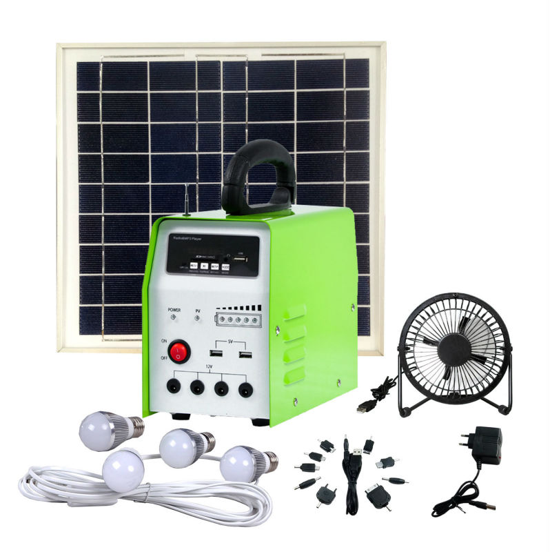 10W solar panel kit for home