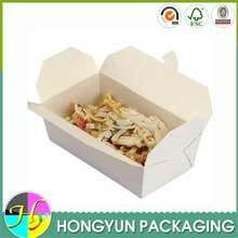 Custom folding wax coated paper food packaging box
