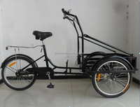"20"" steel frame cargo tricycle 3 wheel with big front basket"