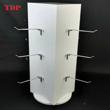 Rotating Counter Retail Jewelry Shelf Hook Hanger Acrylic Display Stand