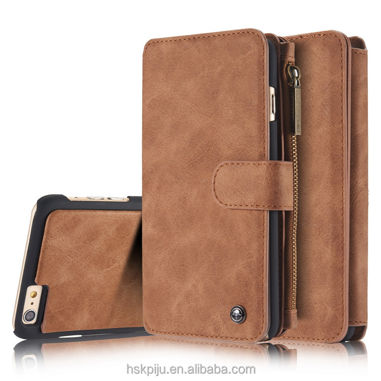 Factory OEM/ODM leather phone wallet case with card slot Phone Cases For Iphone 7/6/6plus for samsung s6/s7/note4