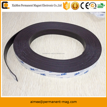 Factory supply flexible magnet roll rubber magnet strip magnetic strips with 3m adhesive