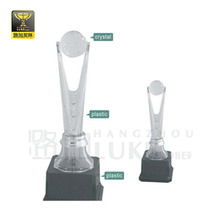 cheap plastic and crystal basketball trophies