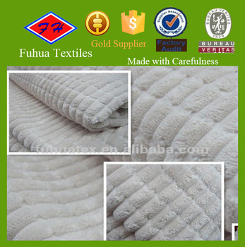 2.5W Nylon Polyester Corduroy Fabric/wide Wale Corduroy Fabric For Cushion, Sofa