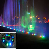 High brightness RGB glass 12W 12v ip68 pool lamp spa/pond/fountain super bright led underwater lights