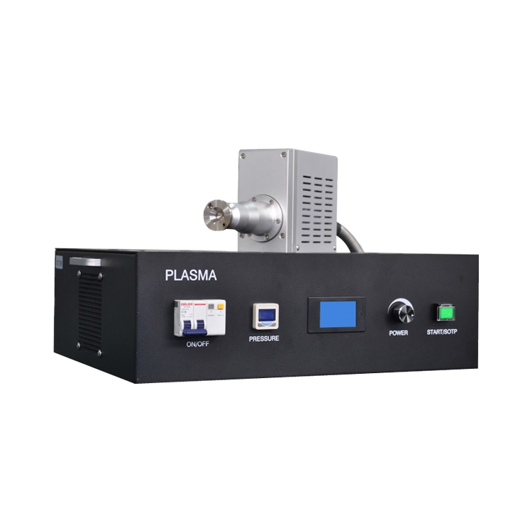 Portable atmospheric plasma cleaning machine for sample surface activation
