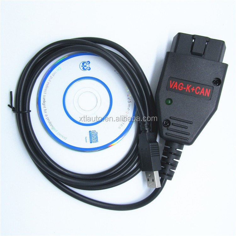 VAG K+CAN Commander 1.4 OBD2 diagnostic interface cable for VW with factory price