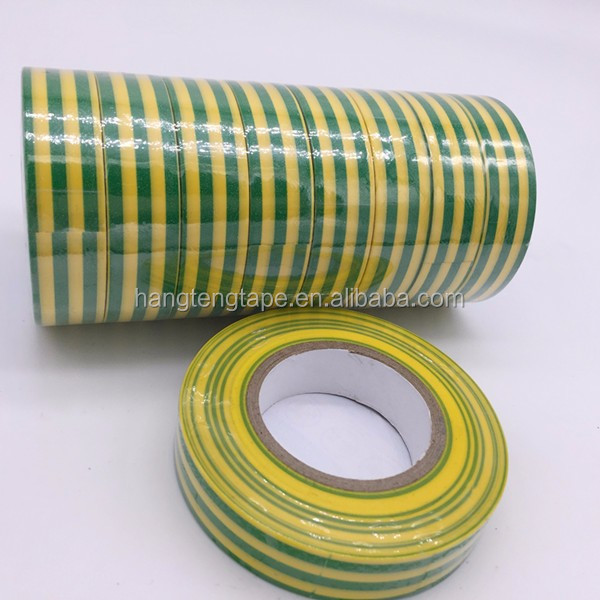 Yellow Green Strip PVC Electrical Insulation Tape for Warning
