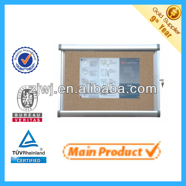 Lockable aluminum frame cabinet aluminum case wall mounted office cabinets