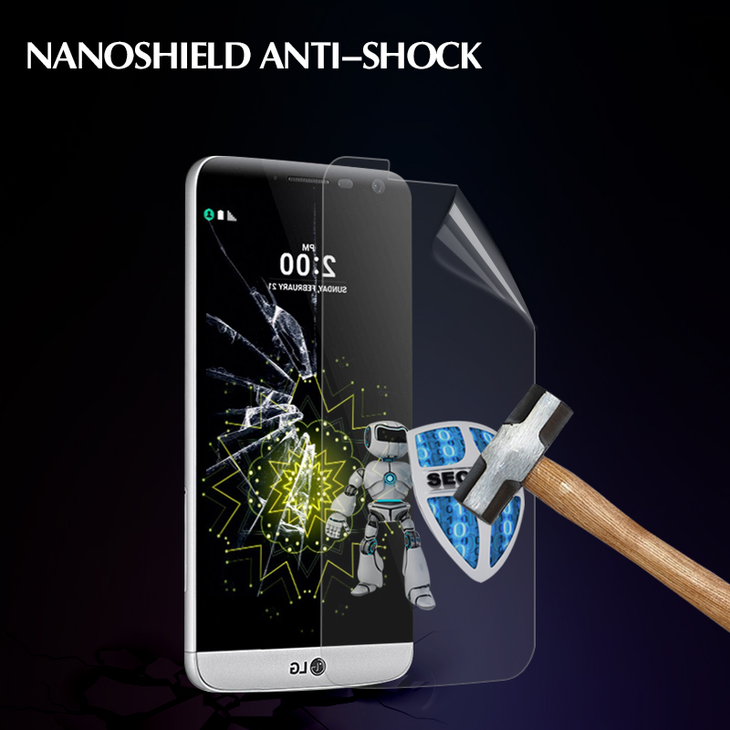 New Factory offer anti-shock Premium Real Nano tec screen protector For LG G5 screen clear protective film