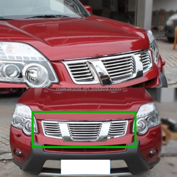For Nissan X-Trail 2011-2013 Car Front Grill Grille Silvery