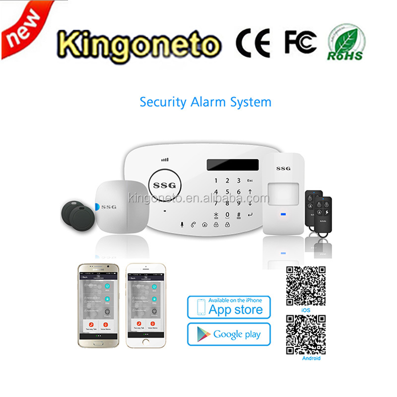 IP GSM+PSTN WiFi alarm system Android&IOS APP wireless Home <strong>security</strong>