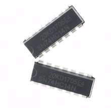 Original genuine straight line SN74HC14N chip six Schmitt trigger non-door DIP14 ic 8873 tv