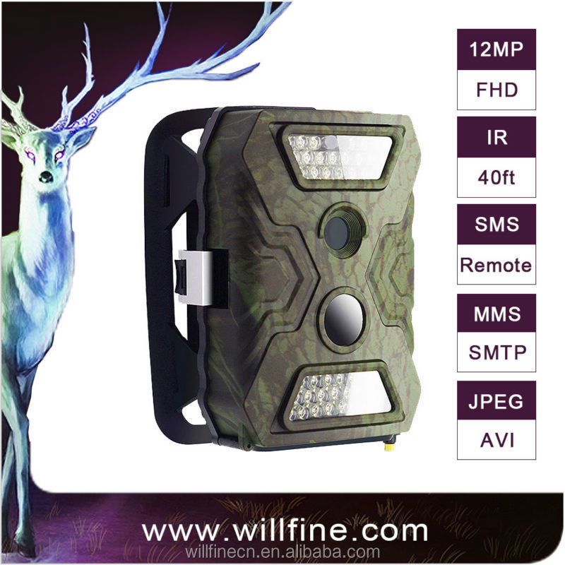 Infrared hunting camera 12 Megapixel 720P video made by Real Manufacturer with 11 years experiences camera trap