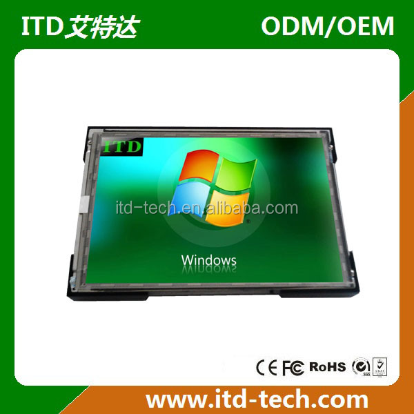 17 inch industrial open frame monitor with IR Capacitive touch screen optional