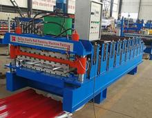 metal roofing tiles rolled zinc coated corrugated steel sheet plant roll forming machine
