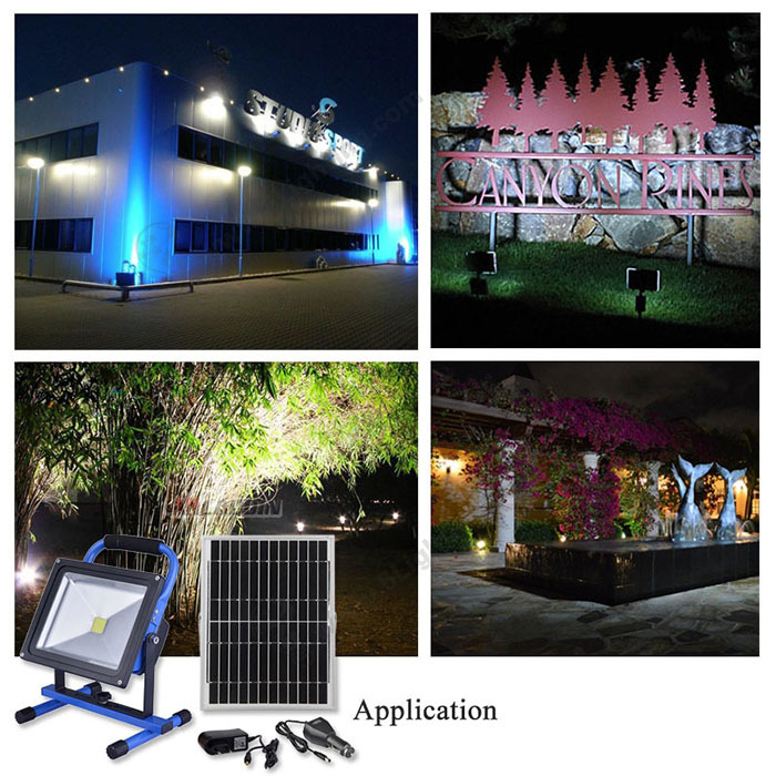 New high powered outdoor 10 W/20W COB LED solar lighting motion sensor led rechargeable flood light