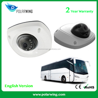 Bus / Coach used IP66 Network WDR Mini mobile Dome Camera