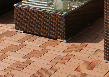 Outdoor wood plastic composite decking WPC DIY tiles