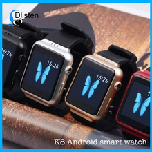 Android K8 smart watch with 1.54inch screen Dual core CPU bluetooth 4.0 wifi GPS K8 wrist watch phone