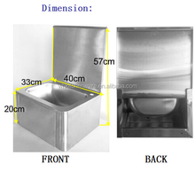 Hand Free commercial knee operated laundry sink, wash hand basin