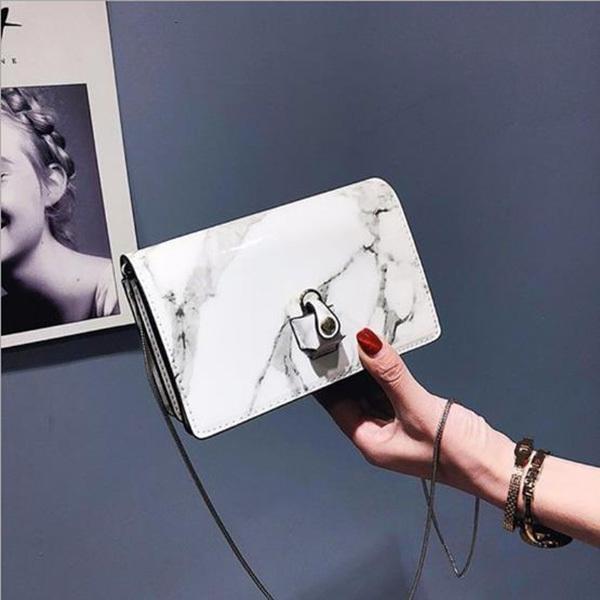 best quality hot sale creative handbag marbling shoulder bag korea small crossbody marbling clutch bag for students