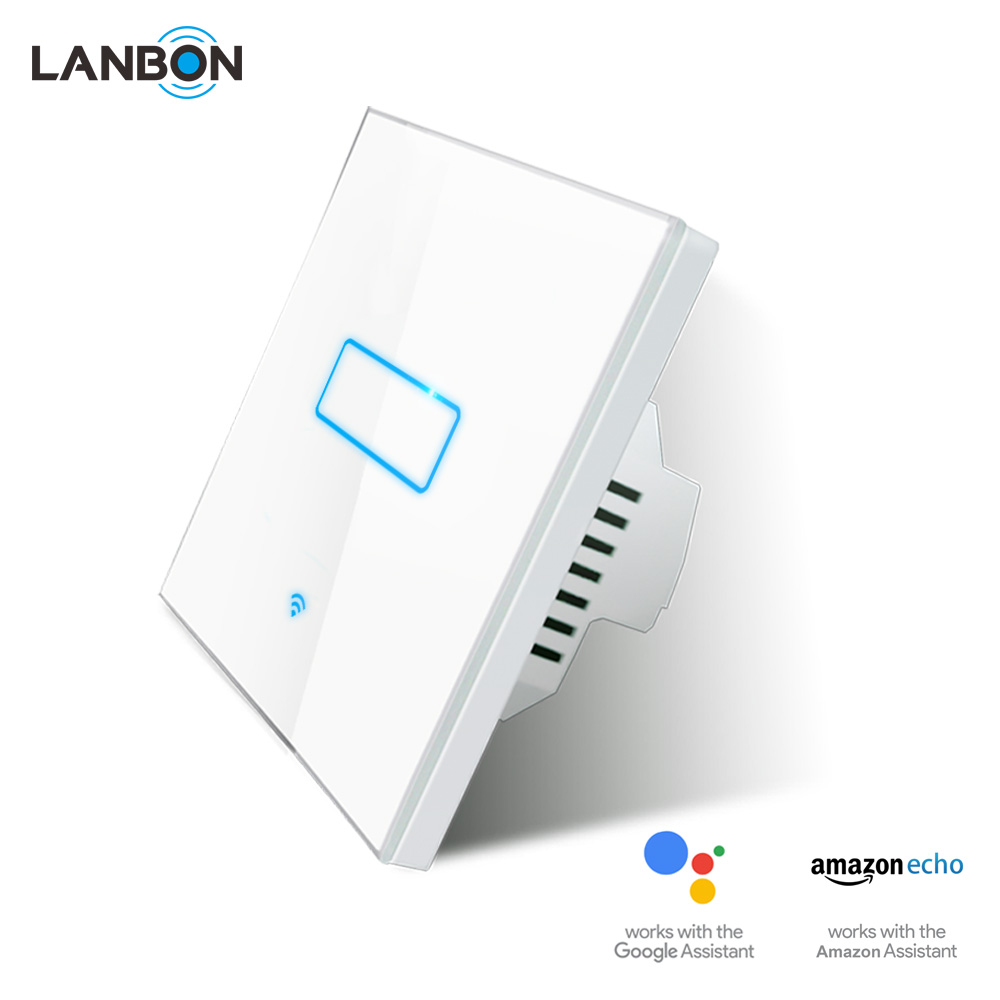 Amazon alexa Smart home Korea, smart led light switch electric touch sensor Wifi switch from LANBON