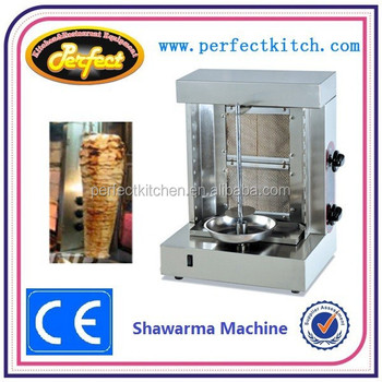 Commercial gas small shawarma machine 2 burners view for Perfect kitchen equipment