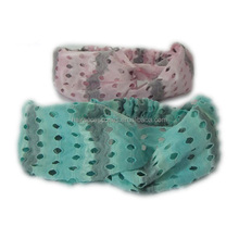 Fancy small hole mesh headband for girl