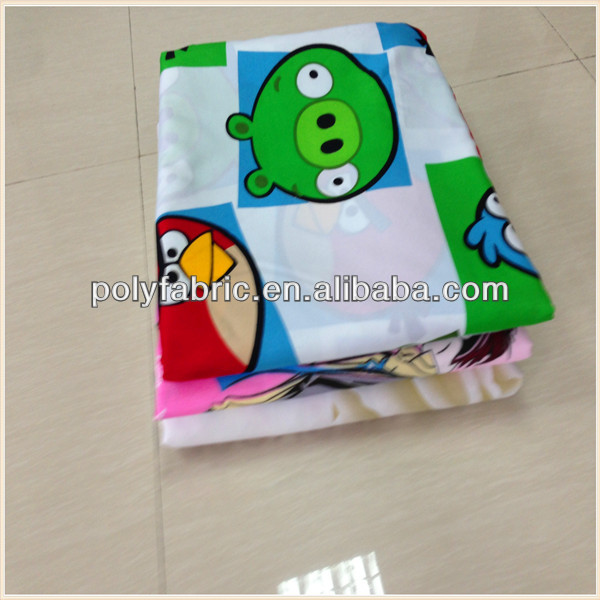 100% Polyester Pigment Print Fabric Textile Material