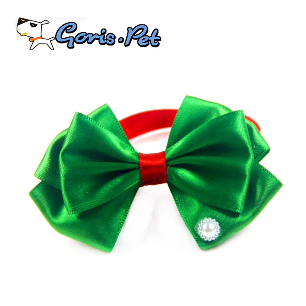 Luxury Cute Pearl Decoration Pet Christmas Bow Tie