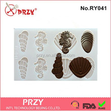 polycarbonate chocolate molds , sea shell silicone chocolate mold