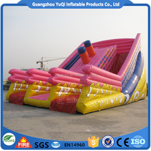 Commercial giant and nice inflatable dry slide with high quality