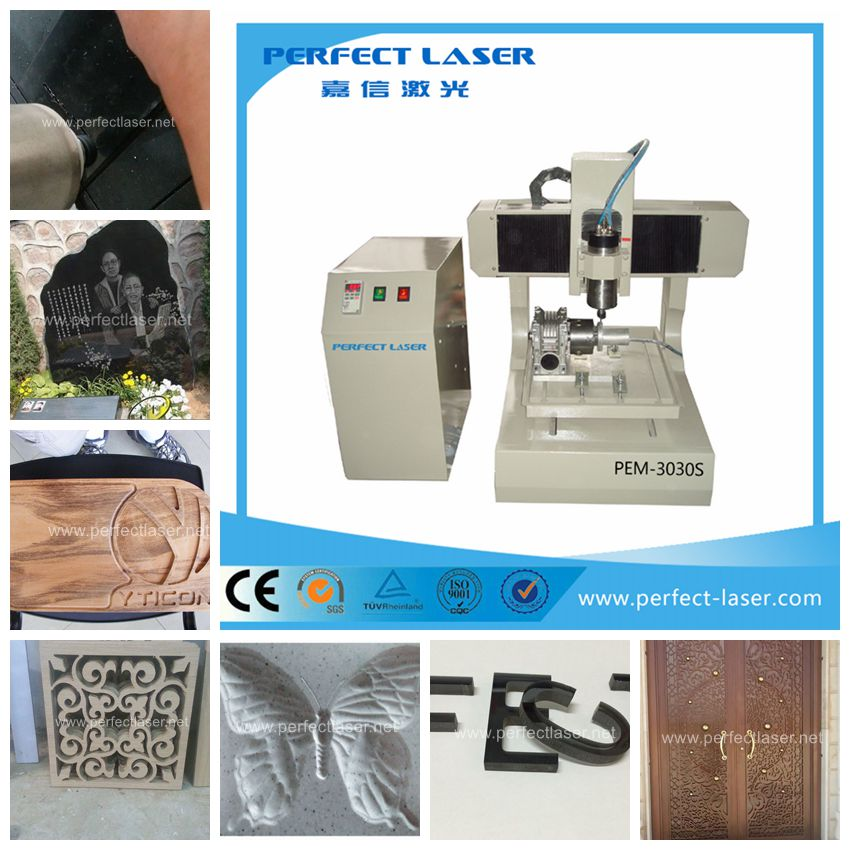 Small engraving machine medals 4 axis CNC Router 3040 1500W with limit switch,metal working machinery