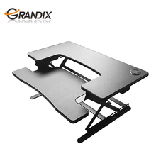 Cheap Ergonomic Best Height Adjustable portable mdf office laptop desktop simple lift standing work Desk Sit Stand Elevating