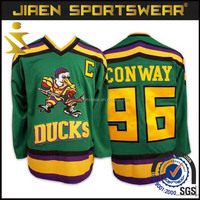 2016 olympic hockey jerseys mighty ducks movie hockey jerseys Sublimation Ice Hockey jersey