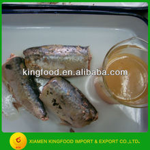 Canned mackerel in brine to Chile