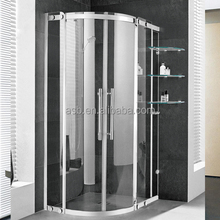 Quanzhou bathroom steel brushed frame round lowes portable shower enclosures