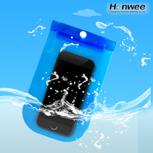 Universal transparent blue pvc IPX8 waterproof mobile phone bag pouch for iphone 7,7 plus