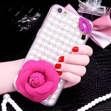 Luxury women design bling bling case for iPhone 7 Plus, Diamond Pearl mobile phone case for iPhone 7 7 Plus Soft TPU case