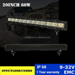 20 Inch 60w led work light ,Flood /Spot /combo beam led driving light bar for truck