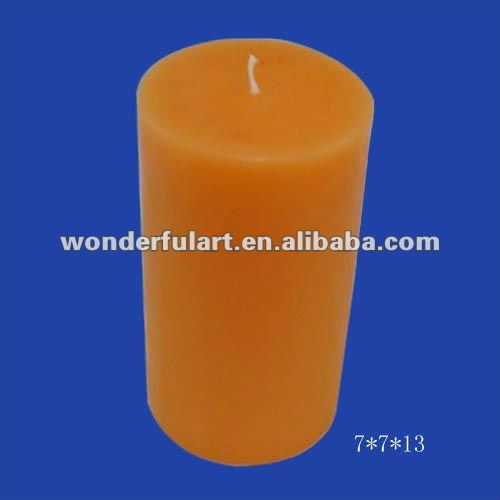 Orange scented custom Pillar Candles