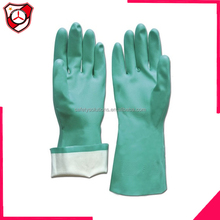 EN 374 & EN 388 tested Geen Nitrile Chemical Resistant Glove