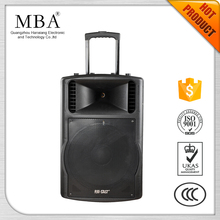 MBA High quality dual 15 inch professional powered speaker big power active outdoor concert speaker