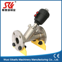 Pneumatic Clamped Stainless Steel Angle Seat Valve for Oxygen Generating Plant