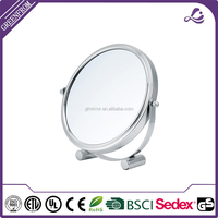 Small Frame 360 degree rorate double sides desktop cosmetic mirror/ make up mirror