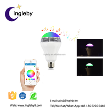 China manufacturing hot housing product bluetooth music color changing E27 china led bulb