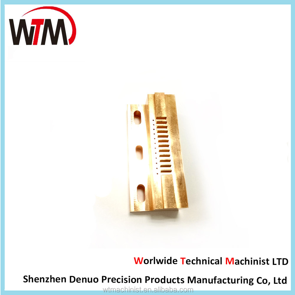 Custom Machining Solutions, Precision EDM Wire Cutting Brass Parts