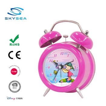 3.5 inches Desktop Clock, Classic Number Alarm Clock, Double Bell Time Clock