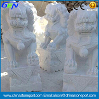 Outdoor Decoration Lion Stone Carving & Sculpture